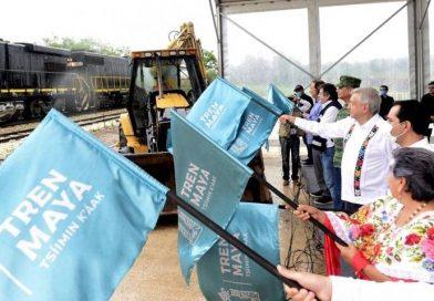 AMLO asegura que el Tren Maya dará 'levantón que necesita el sureste'